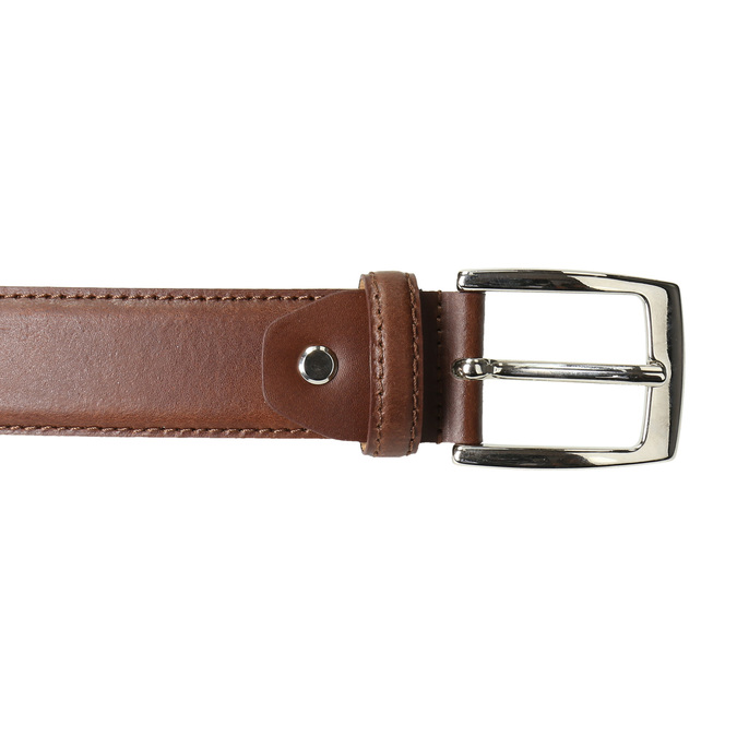 Men's brown leather belt, brown , 954-3170 - 26