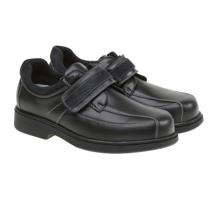 Leather Sneakers, black , 834-6001 - 26