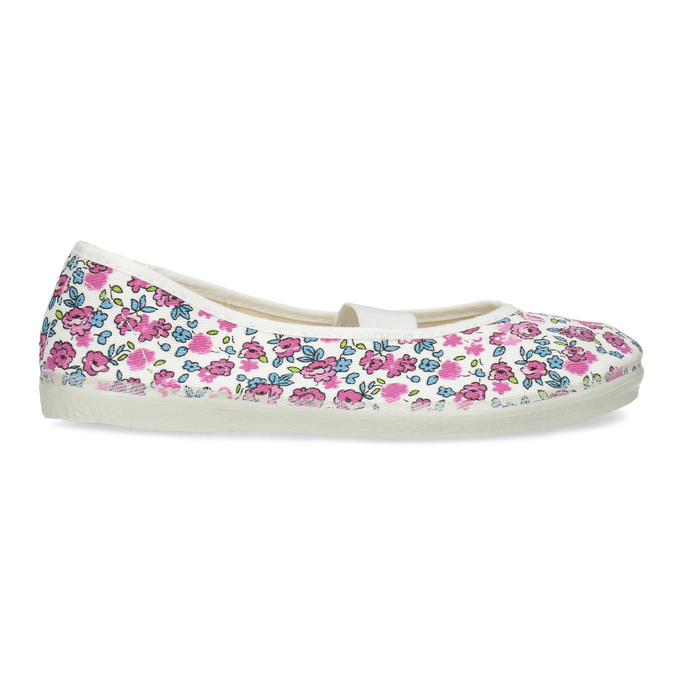 Children's patterned gym shoes, white , pink , 379-5001 - 19