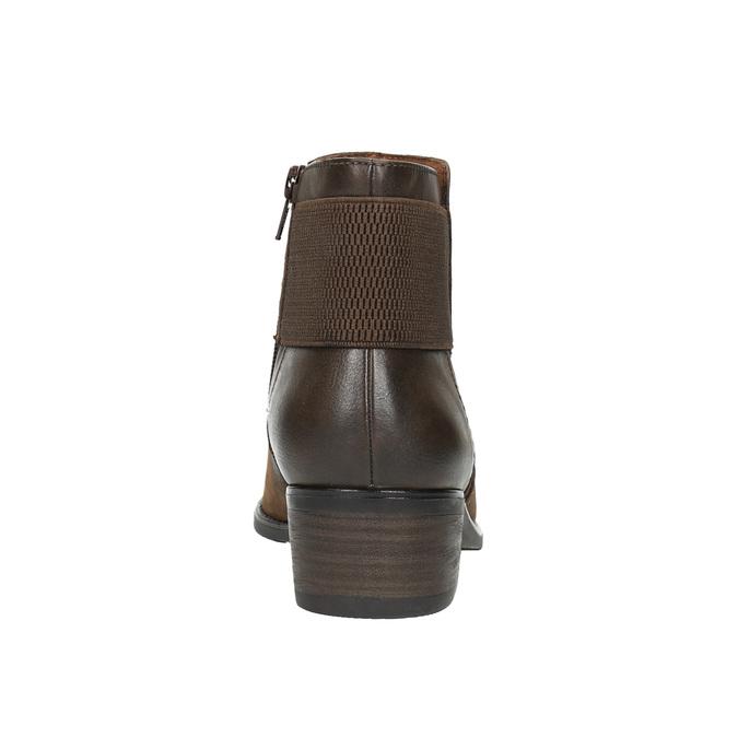 Ladies' ankle shoes bata, brown , 696-4605 - 17