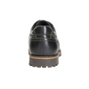 Leather low shoes with toe quilting bata, brown , 826-6640 - 17