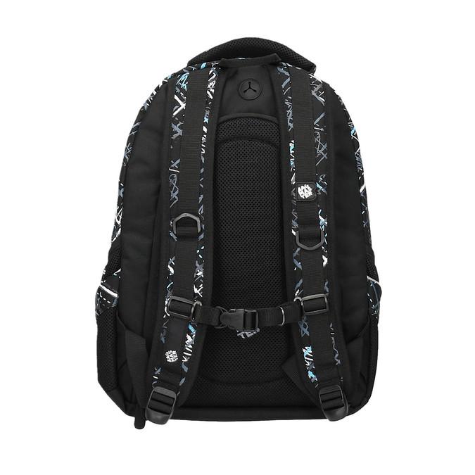 School backpack with printed pattern bagmaster, black , 969-6616 - 26