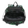 School backpack with printed pattern bagmaster, green, 969-7613 - 15