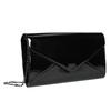 Black women's clutch bag in a lacquered finish bata, black , 961-6624 - 13