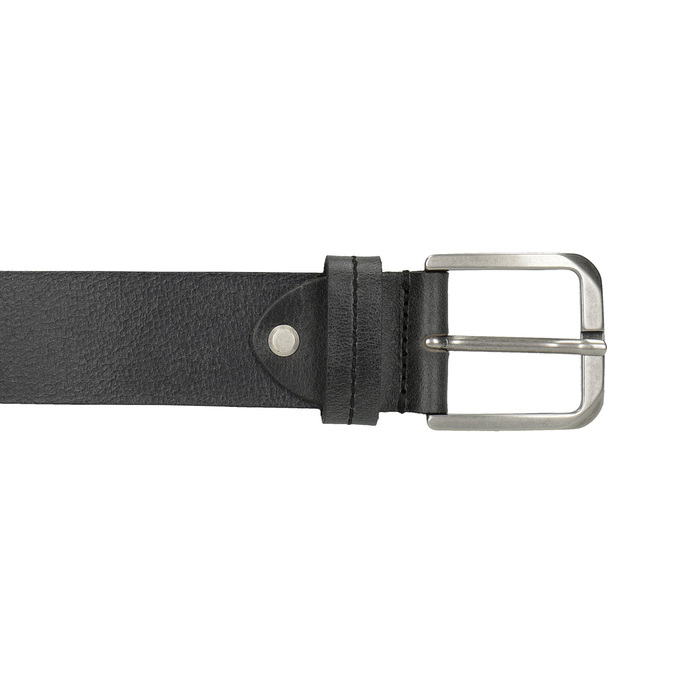 Black leather belt bata, black , 954-6106 - 26