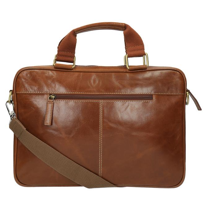 Men's brown leather satchel bata, brown , 964-3204 - 26