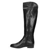 Ladies' leather knee-high boots bata, black , 594-6605 - 19