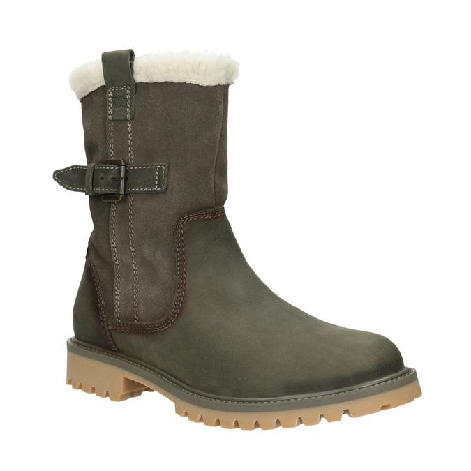 Ladies' winter boots with fur weinbrenner, khaki, 594-2455 - 13