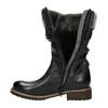 Children's leather high boots mini-b, black , 394-6191 - 19