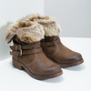 Ladies' ankle boots with fur bata, brown , 591-4601 - 26
