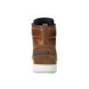 Leather ankle boots with a casual sole bata, brown , 894-3660 - 17