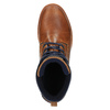 Leather ankle boots with a casual sole bata, brown , 894-3660 - 19
