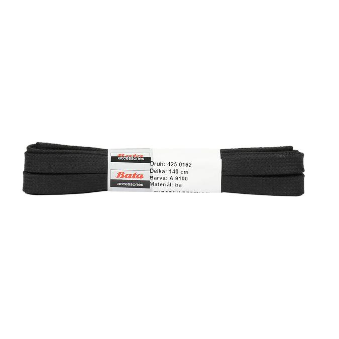 Wide black laces, black , 901-6140 - 13
