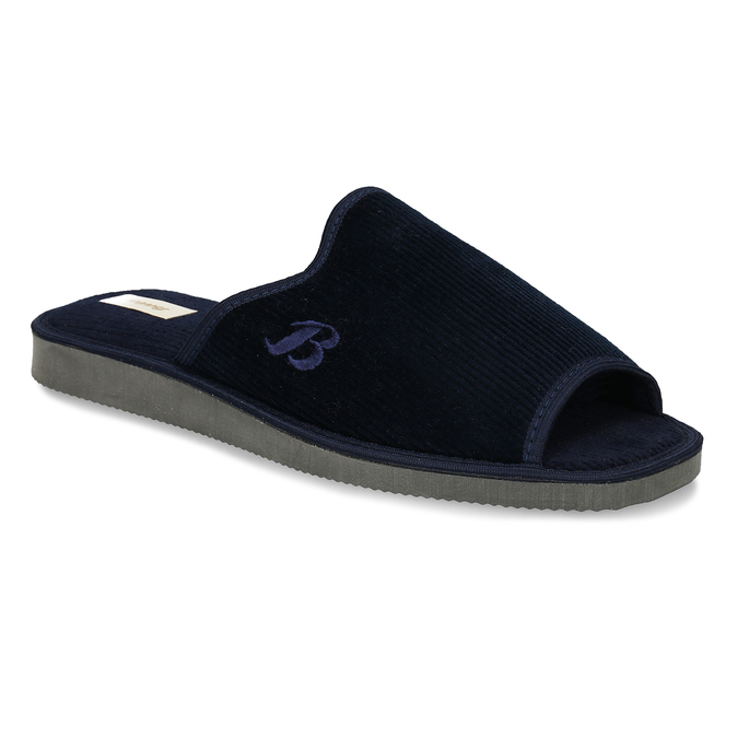 Men's slippers bata, blue , 879-9609 - 13