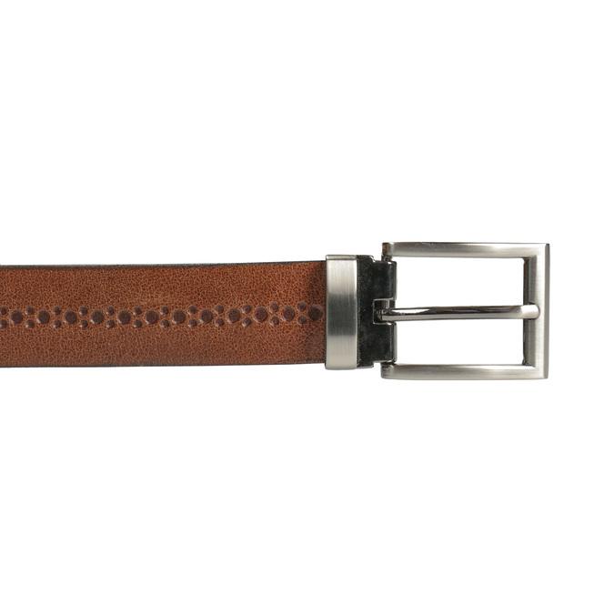 Gentlemen´s leather belt bata, brown , 954-3101 - 26