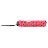 Telescopic umbrella with dots bata, pink , 909-5601 - 16