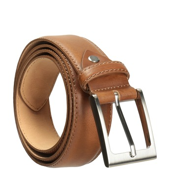 Men's brown leather belt, brown , 954-4153 - 13