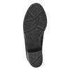 Ankle-cut shoes with fur bata, black , 699-6632 - 26