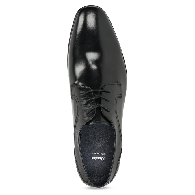 Men's leather shoes bata, black , 824-6758 - 17