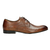 Brown leather shoes with embellishments conhpol, brown , 826-3837 - 15