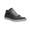 Men's leather ankle sneakers bata, blue , 844-9631 - 13