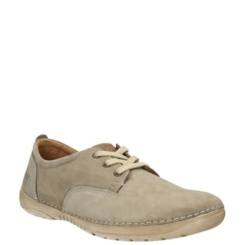 Casual leather shoes weinbrenner, beige , 846-8631 - 13