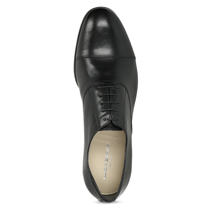 Black leather Oxford shoes vagabond, black , 824-6048 - 17