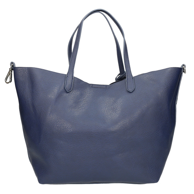 Blue handbag with tassels bata, blue , 961-9274 - 19