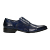 Blue leather Oxford shoes bata, blue , 826-9822 - 15