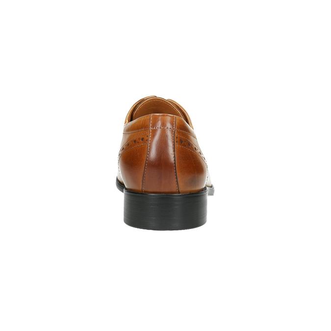 Men's Brogue leather shoes bata, brown , 826-3821 - 17