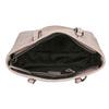 Pink handbag with perforated detail bata, pink , 961-5711 - 15