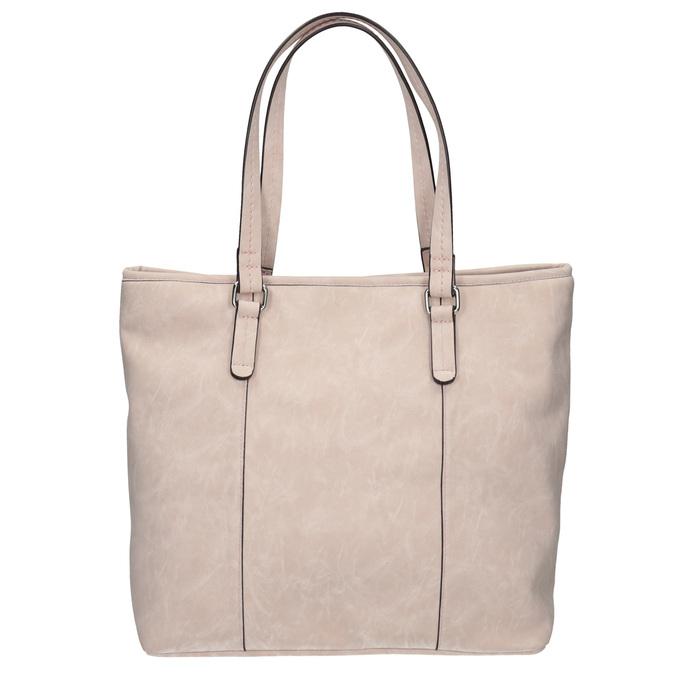 Pink handbag with perforated detail bata, pink , 961-5711 - 19