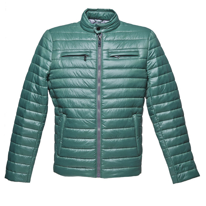 Men's quilted jacket bata, green, 979-7218 - 13