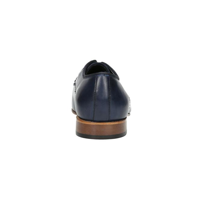 Men's blue leather shoes bata, blue , 826-9836 - 17