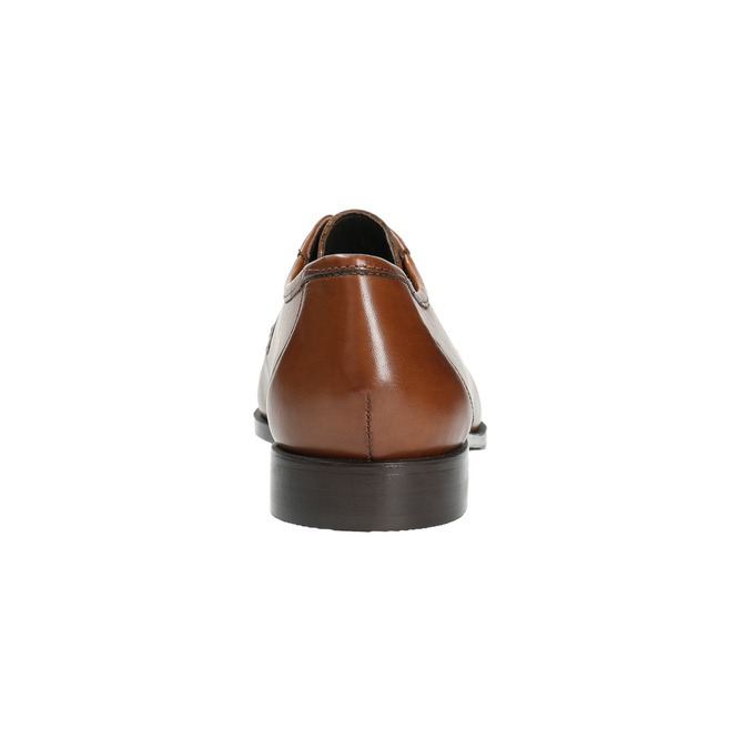 Leather shoes with contrasting quilting for gentlemen bata, brown , 824-4838 - 17