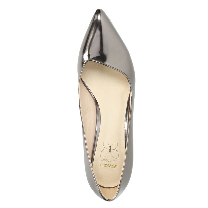 Silver pointed pumps, silver , 721-6607 - 19