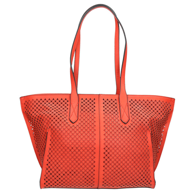 Red handbag with perforations gabor-bags, red , 961-5080 - 19