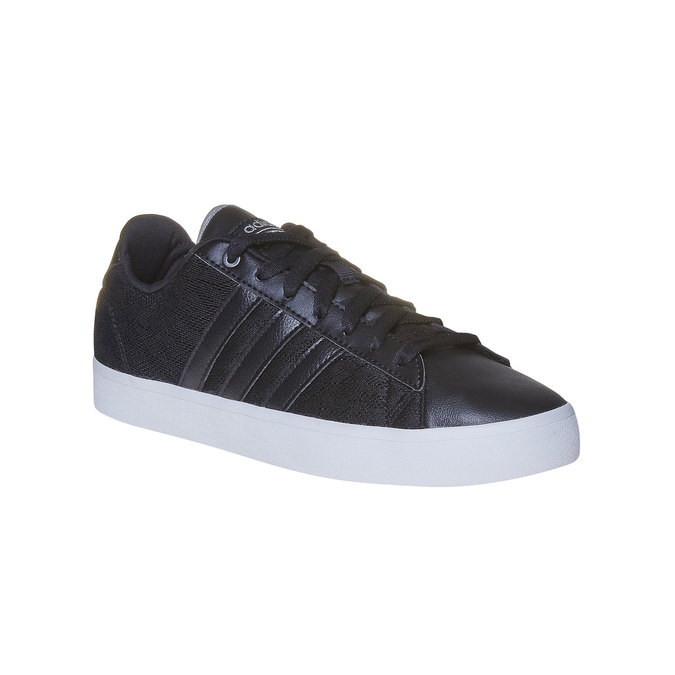 Ladies' black sneakers with lace adidas, black , 509-6195 - 13