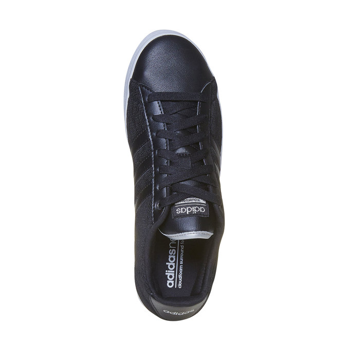 Ladies' black sneakers with lace adidas, black , 509-6195 - 19