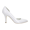 White pointed leather pumps insolia, white , 728-1635 - 15