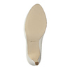 Leather pumps on a Stiletto heel insolia, white , 724-1647 - 26