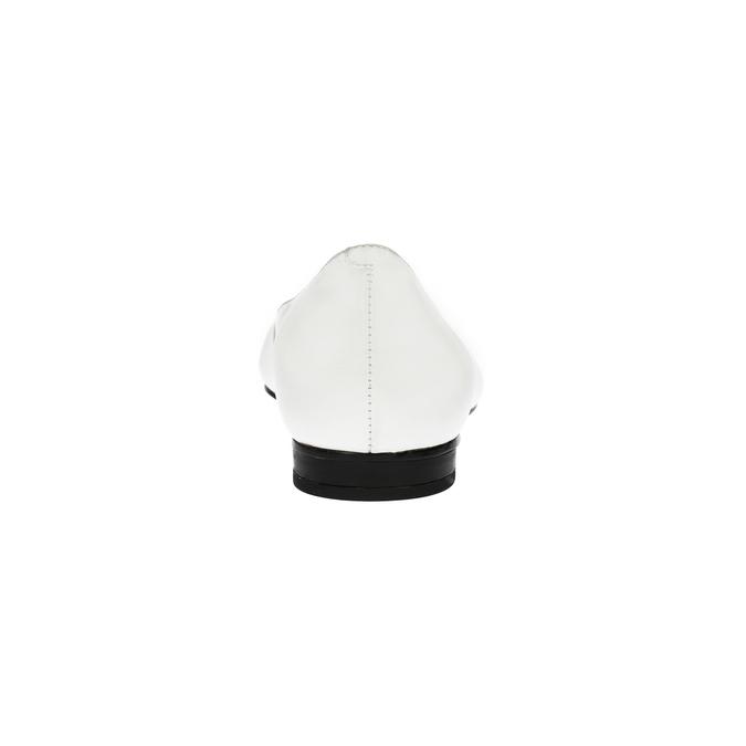 Ladies´ leather ballerinas bata, white , 524-1602 - 17