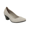 Leather pumps width H bata, gray , 623-2602 - 13