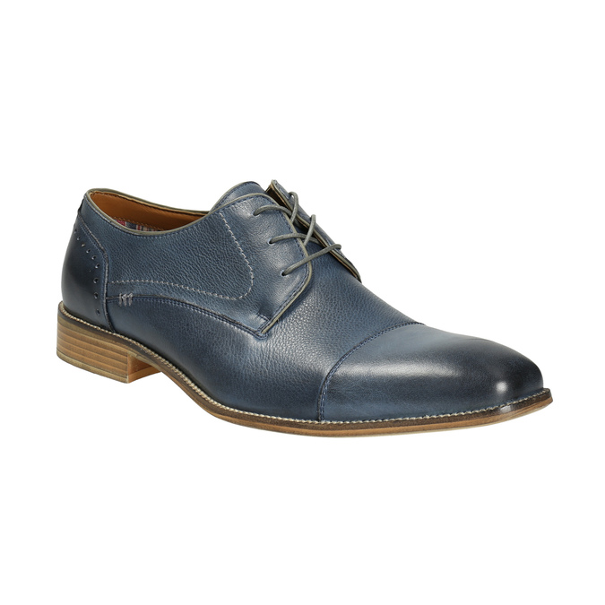 Blue leather shoes bata, blue , 826-9801 - 13