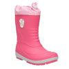 Girls' wellington boots with distinctive sole mini-b, pink , 392-5111 - 13