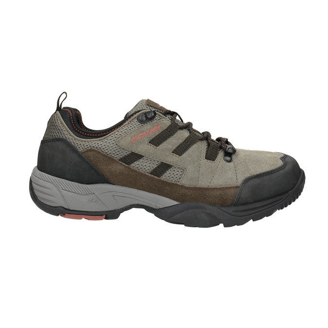 Leather outdoor shoes power, brown , 803-4118 - 15