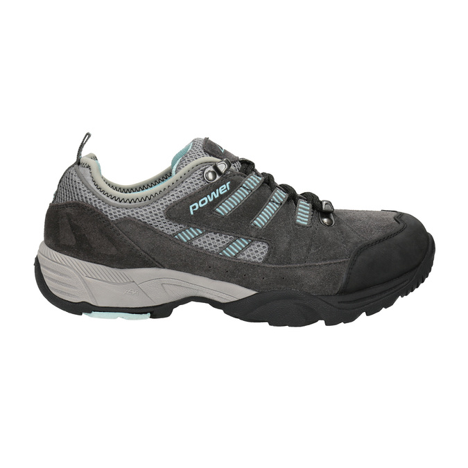 Ladies' leather outdoor shoes power, gray , 503-2118 - 15