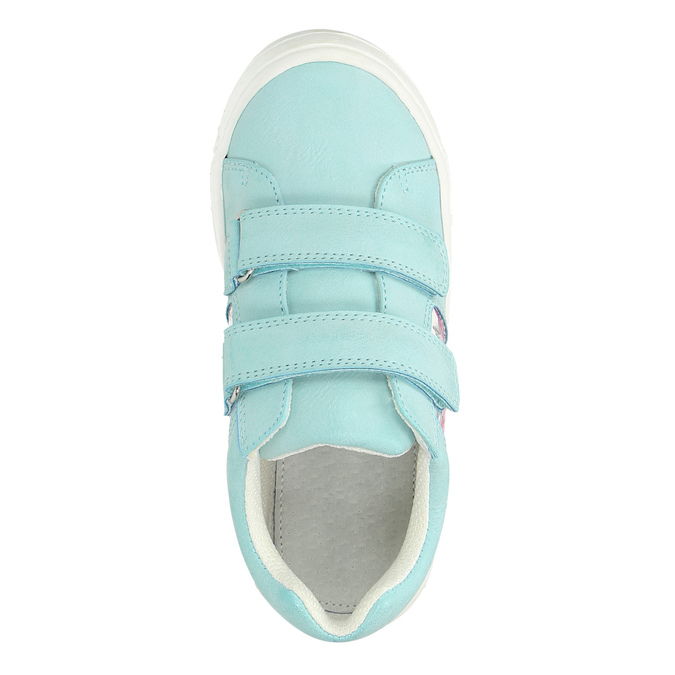 Children's sneakers with floral pattern mini-b, turquoise, 221-7605 - 19