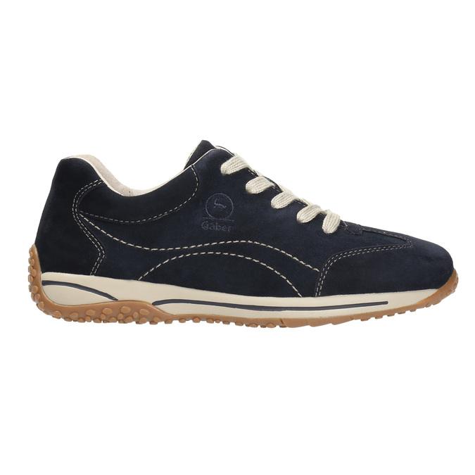 Ladies' leather sneakers gabor, blue , 626-9205 - 15