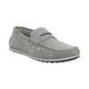 Men's brushed leather moccasins bata, gray , 853-2614 - 13